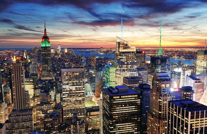 """Фотообои """"3D Фотообои  """"Нью-Йорк: небоскребы"""" """""""