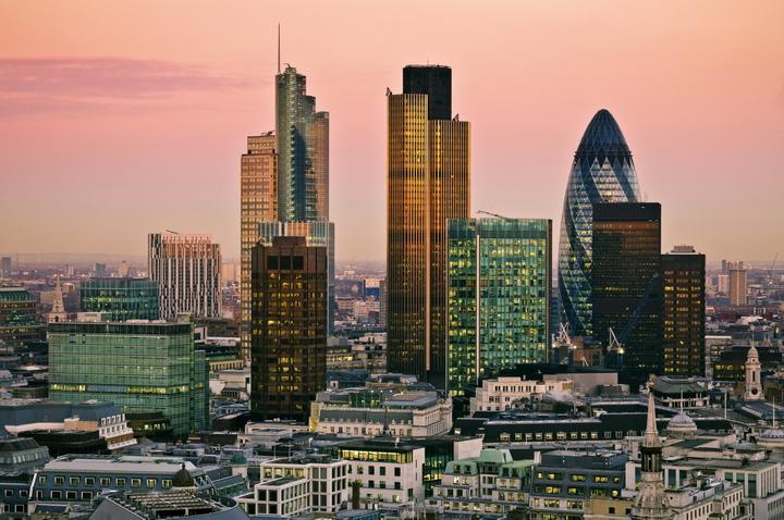 """3D Фотообои  """"Небоскребы Лондона"""""""