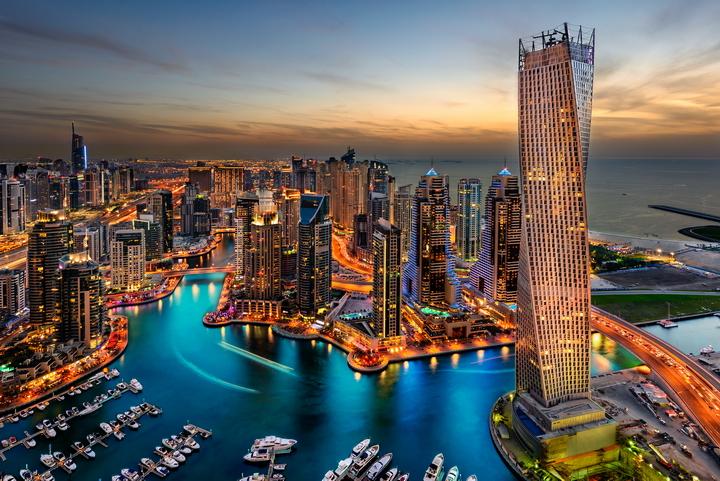 3D фотообои «Ночной Дубай» вид 1