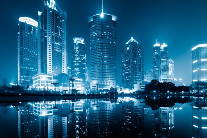 3D фотообои «Неоновые огни ночного города» вид 1