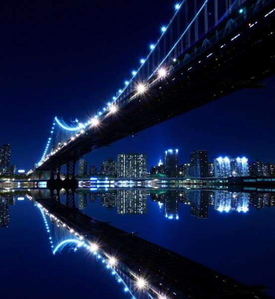 """3D Фотообои  """"Ночной Нью-Йорк"""""""