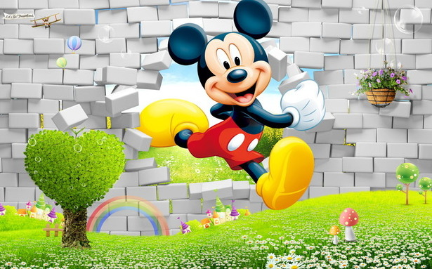 """Детские 3D Фотообои """"Микки Маус"""""""
