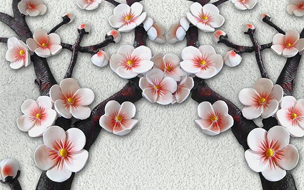 3D фотообои «Ветви сакуры» вид 1