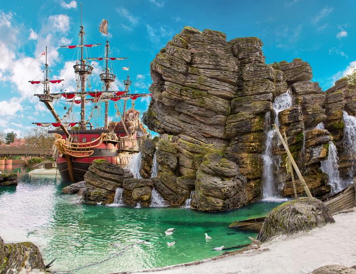 """3D Фотообои  """"Пиратский остров"""""""