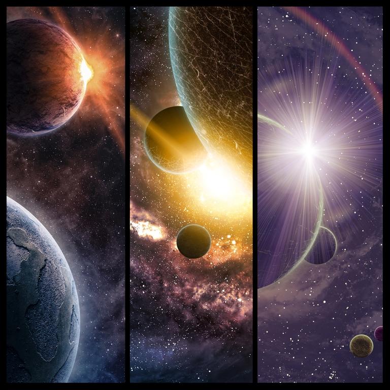 """3D Фотообои  """"Галактика: Планеты"""""""