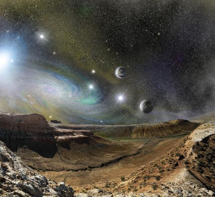 3D Фотообои «Каньон на безжизненной планете»<br>kit: None; gender: None;