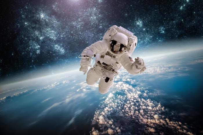 3D Фотообои «Прогулка в открытом космосе»<br>kit: None; gender: None;