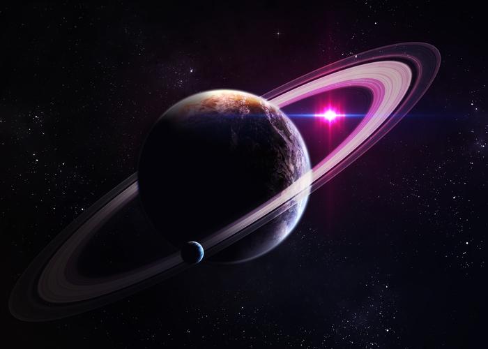 3D Фотообои «Сатурн»<br>kit: None; gender: None;
