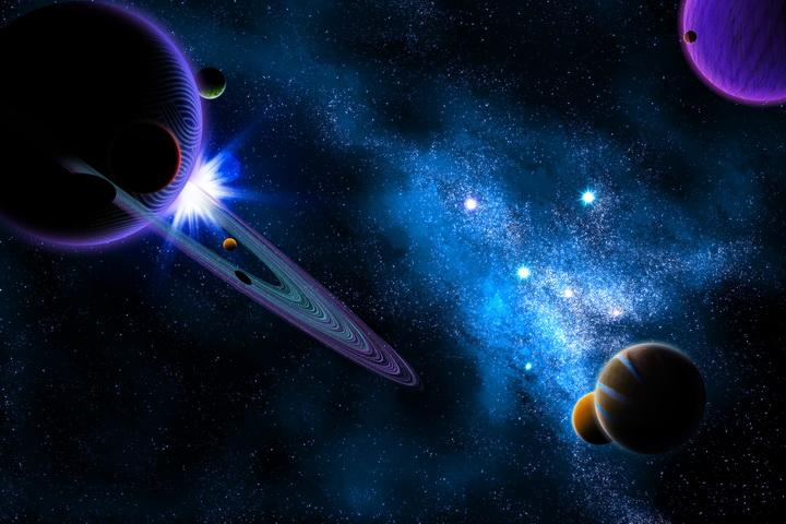 """Фотообои """"3D Фотообои  """"Рассвет на Юпитере"""" """""""