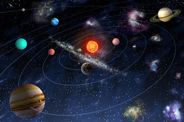 """3D Фотообои  """"Планеты"""""""