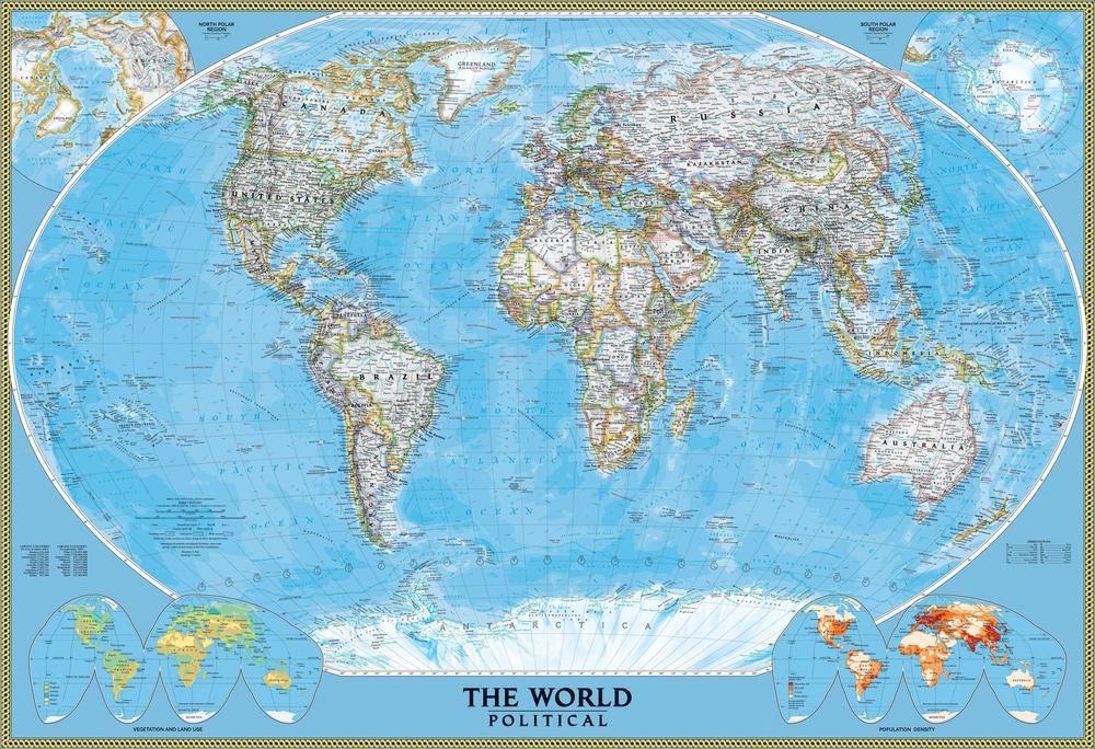 3D Фотообои  Политическая карта мира<br>kit: None; gender: None;