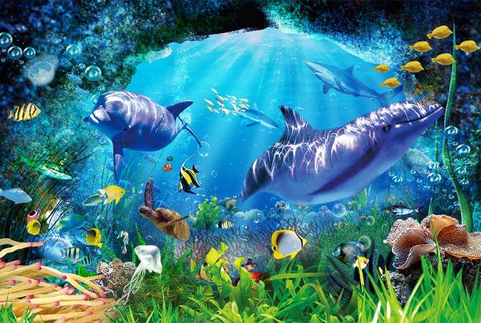 Детские 3D Фотообои «Глубоко под водой»<br>kit: None; gender: None;