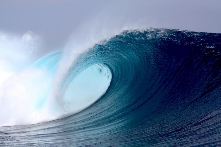 """3D Фотообои  """"Волна в Карибском море"""""""
