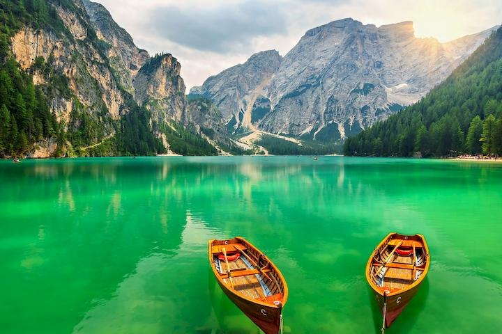 """Фотообои """"3D Фотообои  """"Озеро в Альпах"""" """""""