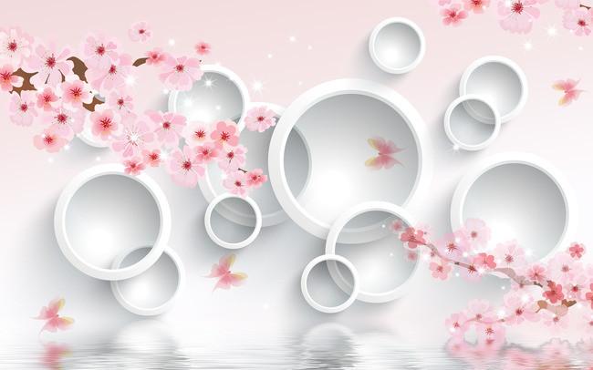 3D Фотообои  Сакура в цветуЦветы будто наполняют дом ароматом весны, а круги создают ассоциации с каплями первого дождя, который принес долгожданное обновление. Розовый цвет успокаивает взгляд, дарит весеннее настроение. Объемные геометрические фигуры создают ощущение спокойствия и гармонии, а нежные ветви сакуры настраивают на романтический лад и заряжают позитивными эмоциями.&amp;nbsp;<br>kit: None; gender: None;