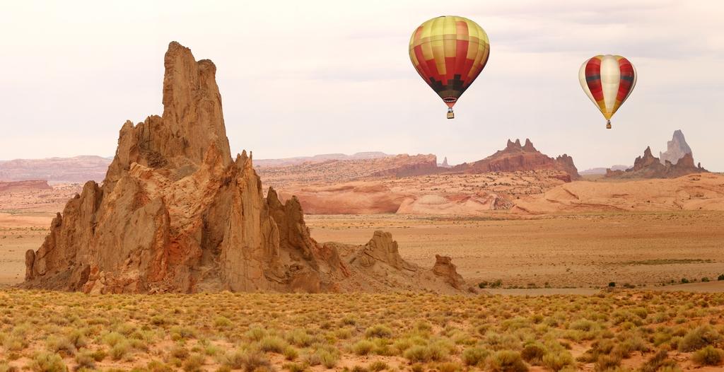 """3D Фотообои  """"Воздушные шары над каньоном"""""""