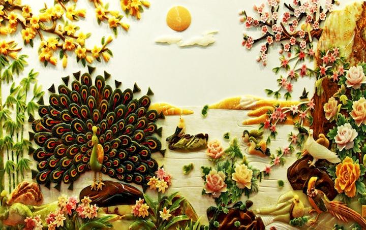 3D фотообои 3D Фотообои  «Декорация в японском стиле из нефрита»  вид 1