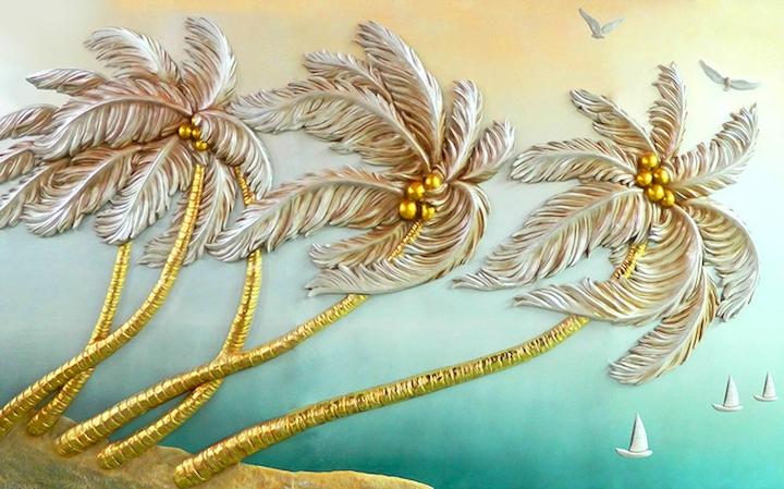 """3D Фотообои  """"Кокосовые пальмы"""""""