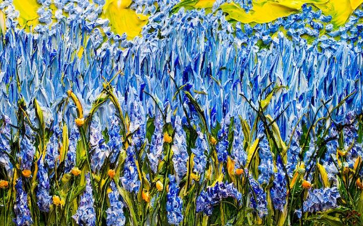 """3D Фотообои  """"Объемная живопись: поле цветов"""""""