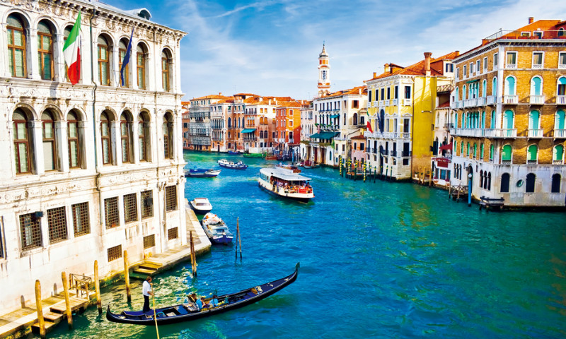 "3D Фотообои  ""Венеция: канал Ла-Джудекка"""