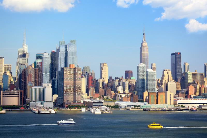 """3D Фотообои  """"С видом Нью-Йорка"""""""