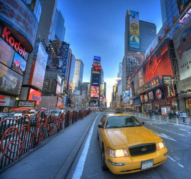"3D Фотообои  ""Такси Нью-Йорк"""