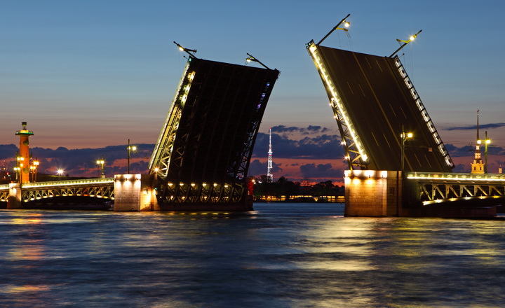 """3D Фотообои  """"Мост Санкт-Петербург"""""""