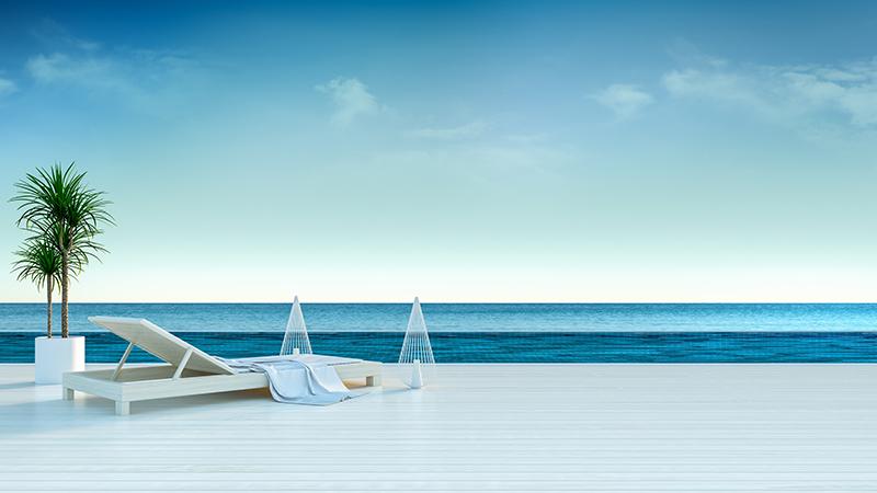"Фотообои ""3D Фотообои «Терраса с видом на море»"""