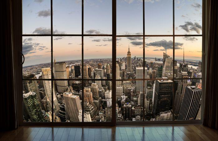 3D Фотообои «Мегаполис на закате»