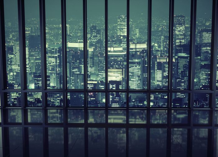 """Фотообои """"3D Фотообои «Ночной мегаполис»"""""""