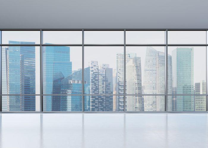 3D Фотообои «Верхушки небоскребов»