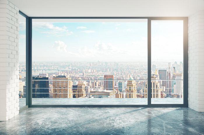 """Фотообои """"3D Фотообои «Вид из окна на солнечный день в городе»"""""""