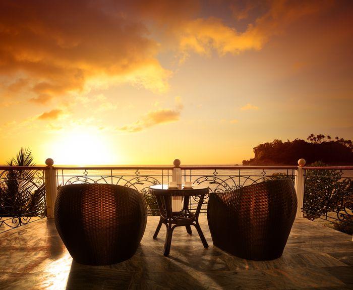 3D Фотообои «Вид с террасы на закат»