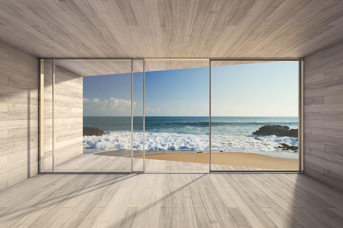 3D фотообои 3D Фотообои «Вид из окна на прибой» вид 1