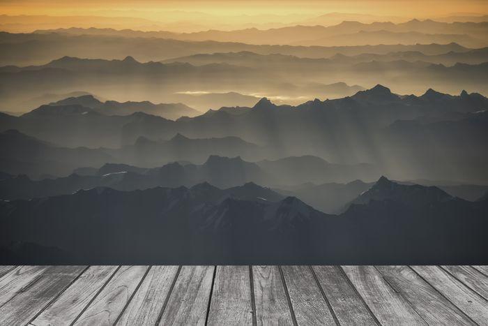 3D Фотообои «Горы. Закат»