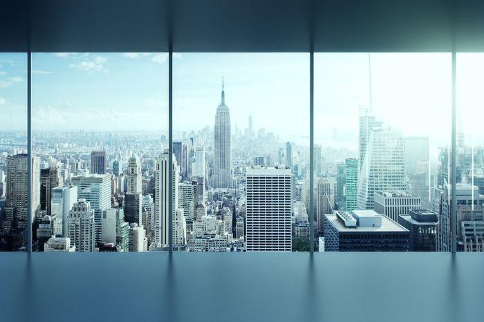 3D Фотообои «Мегаполис в холодных тонах»<br>kit: None; gender: None;