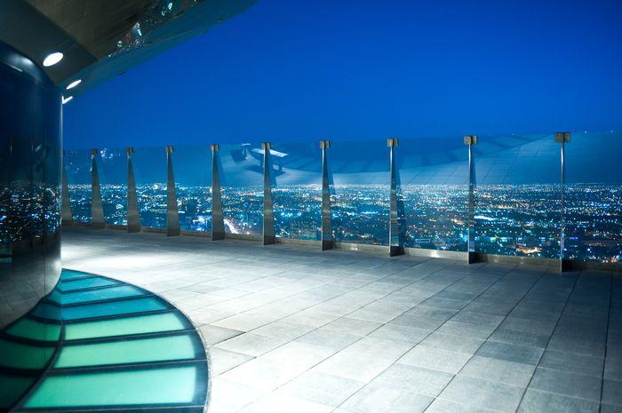 """Фотообои """"3D Фотообои «Вид с балкона на город»"""""""