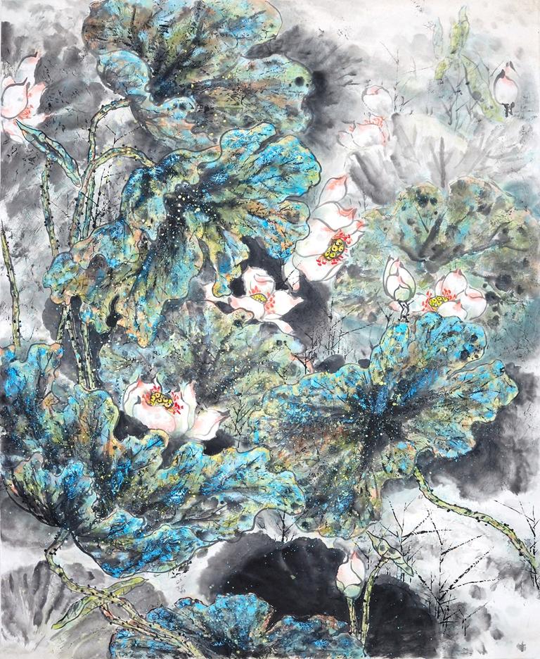 """3D Фотообои  """"Японские мотивы: Цветы"""""""