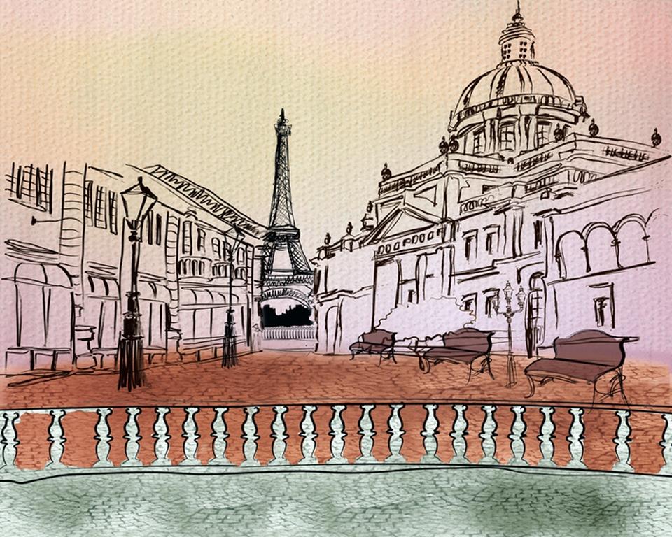 "Фотообои ""3D Фотообои  ""Улицы Парижа"" """