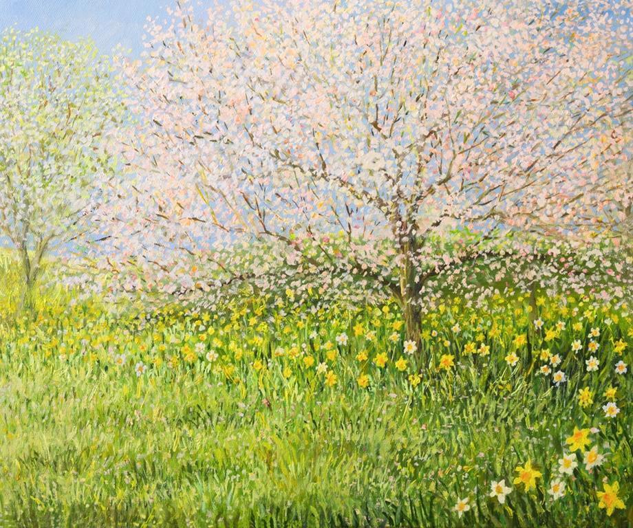 """3D Фотообои  """"Цветущие деревья"""""""